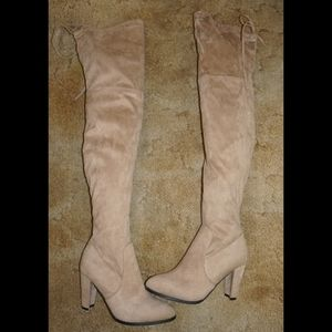 Nude Over The Knee Boots